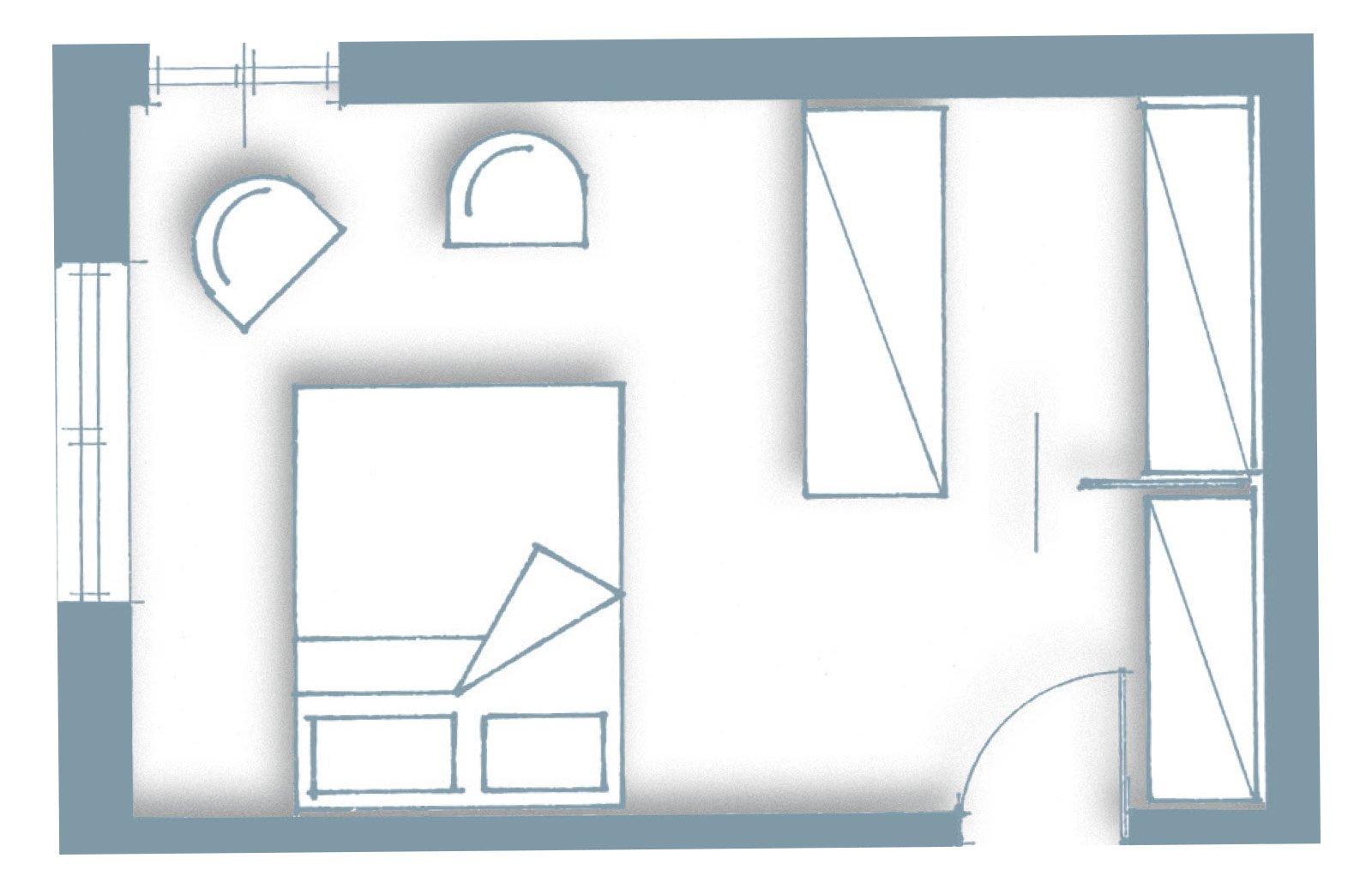 Una casa con soffitti che definiscono le funzioni cose - Finestre scorrevoli pianta ...