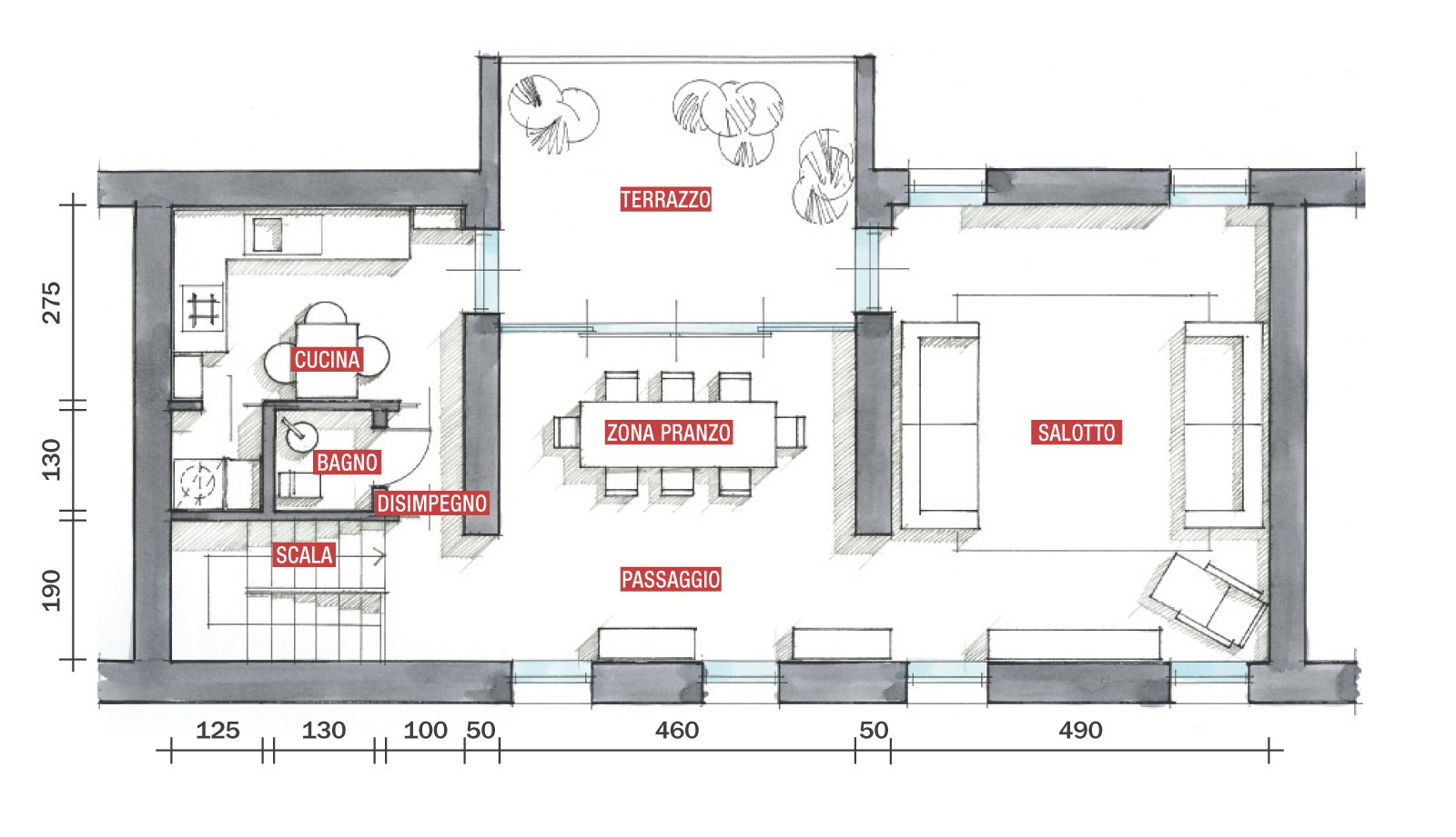La casa triplica con il recupero del sottotetto cose di casa for 2 piani letto 2 bagni