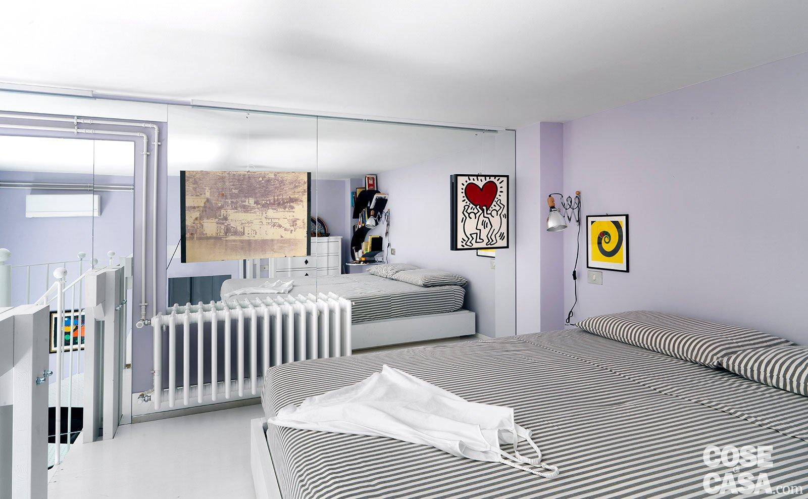 In una casa d 39 epoca un bilocale attuale cose di casa - Camera matrimoniale soppalco ...