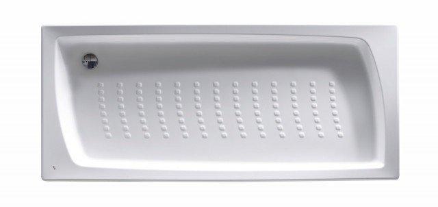 on fondo antiscivolo, il piatto in materiale acrilico misura 90 x 75 cm; compreso kit di scarico Ø 52 mm, esclusa Iva costa 313 euro Daiquiri di Roca]  www.roca-italia.com