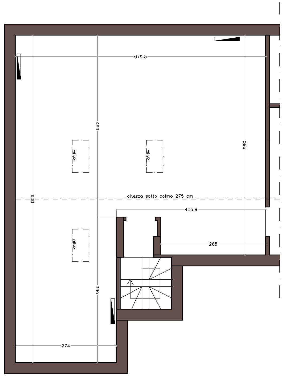 La mansarda da dividere in camera e studio cose di casa - Progetto camera ...