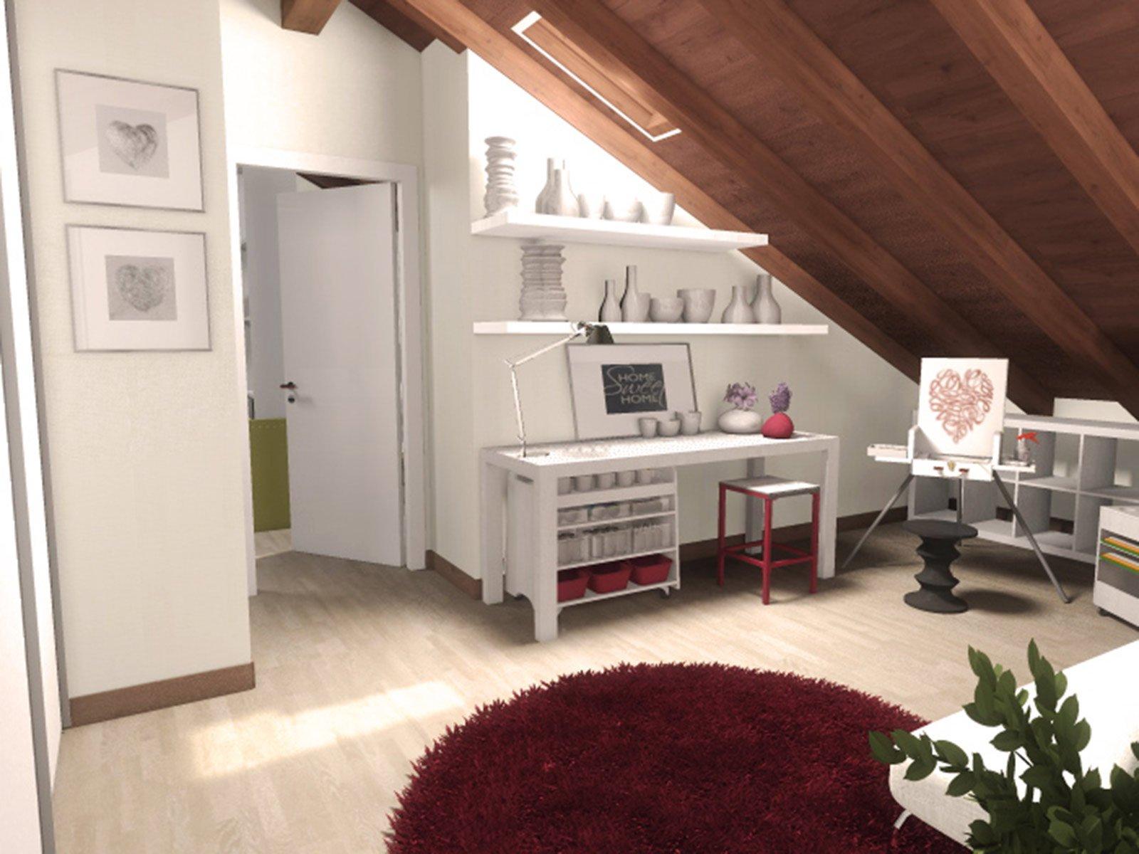 La mansarda da dividere in camera e studio cose di casa - Camera studio arredamento ...