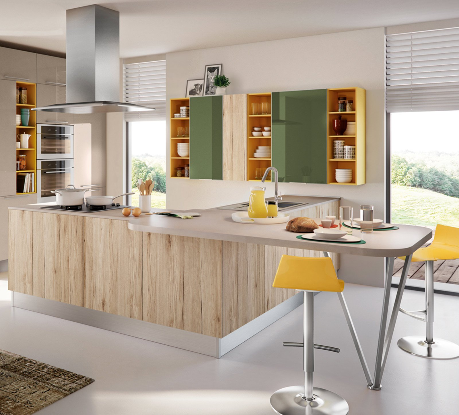 Cucine colori fluo per arredarla cose di casa - Cucine colorate moderne ...