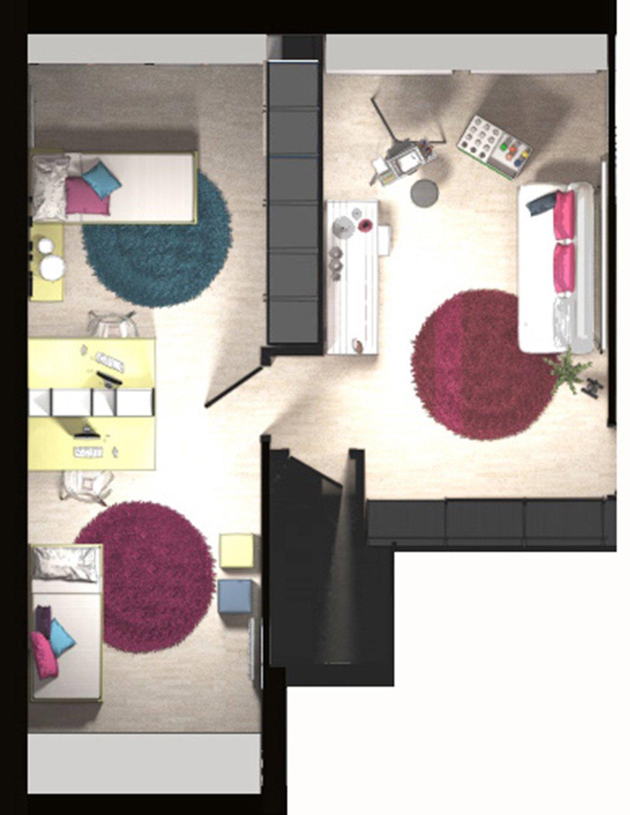 La mansarda da dividere in camera e studio cose di casa - Dividere una camera in due ...