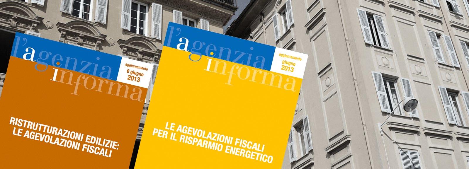 agevolazioni fiscali 2013 le guide dell 39 agenzia delle