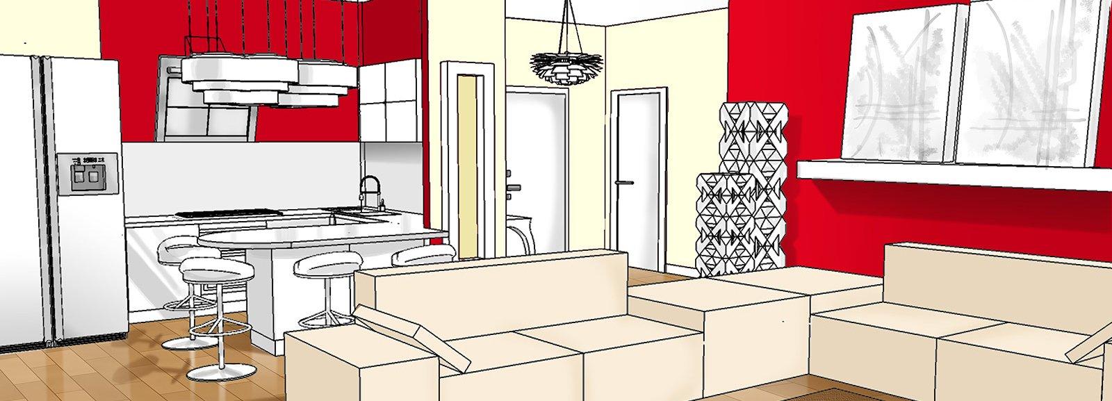 Idee Lampadari Soggiorno : Ingresso aperto sul soggiorno. Idee da ...
