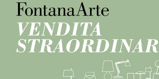 Vendita straordinaria di fine estate per FontanaArte