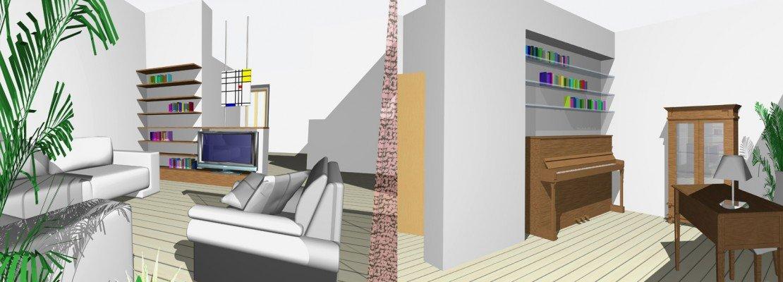 Zona giorno: riprogettata con gli arredi già esistenti - Cose di Casa