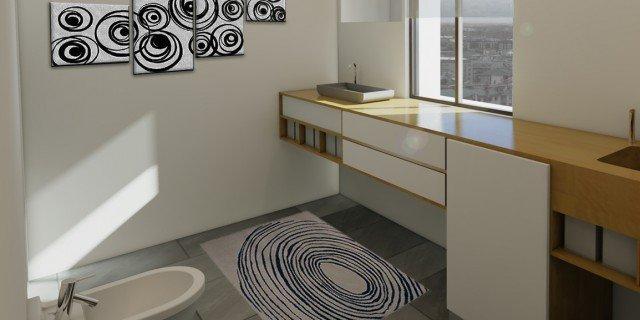 Bagno con zona lavanderia nascosta cose di casa - Camera nascosta in bagno ...