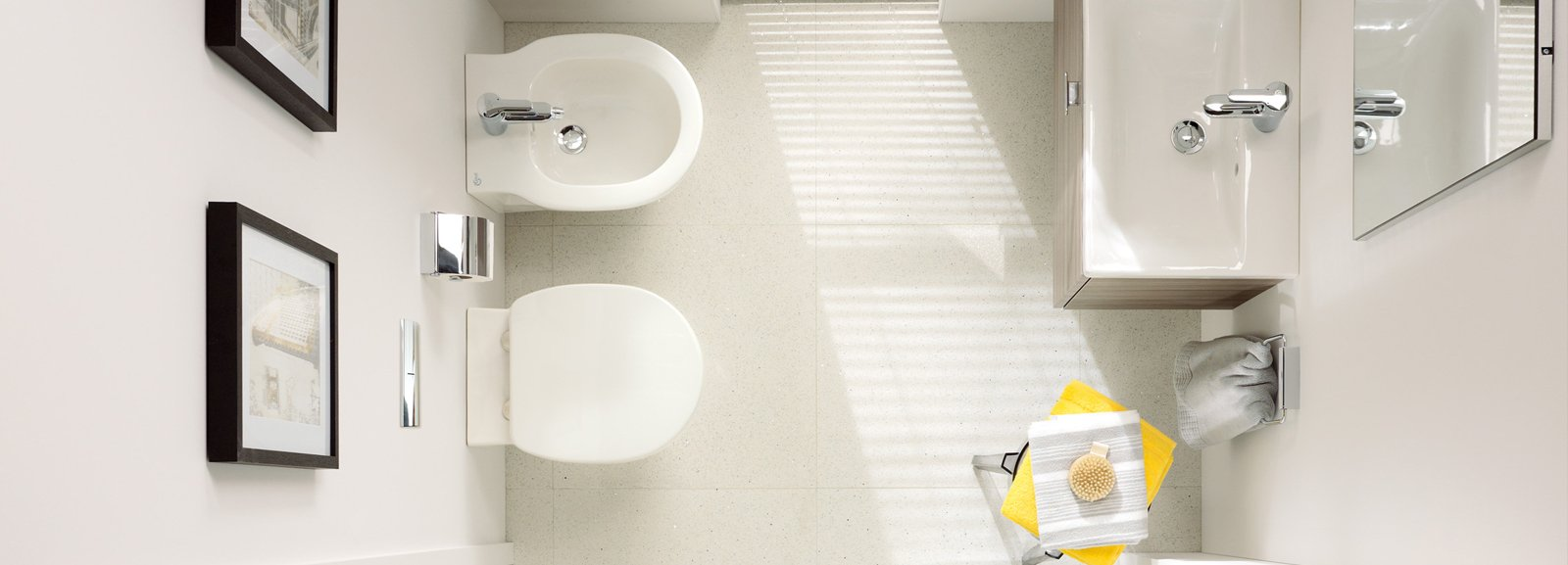 Bagno piccolo soluzioni piccole cose di casa - Misure standard bagno ...