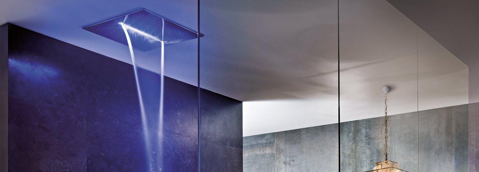 Illuminazione Doccia Normativa: Colonna doccia a parete multifunzione acquapura.