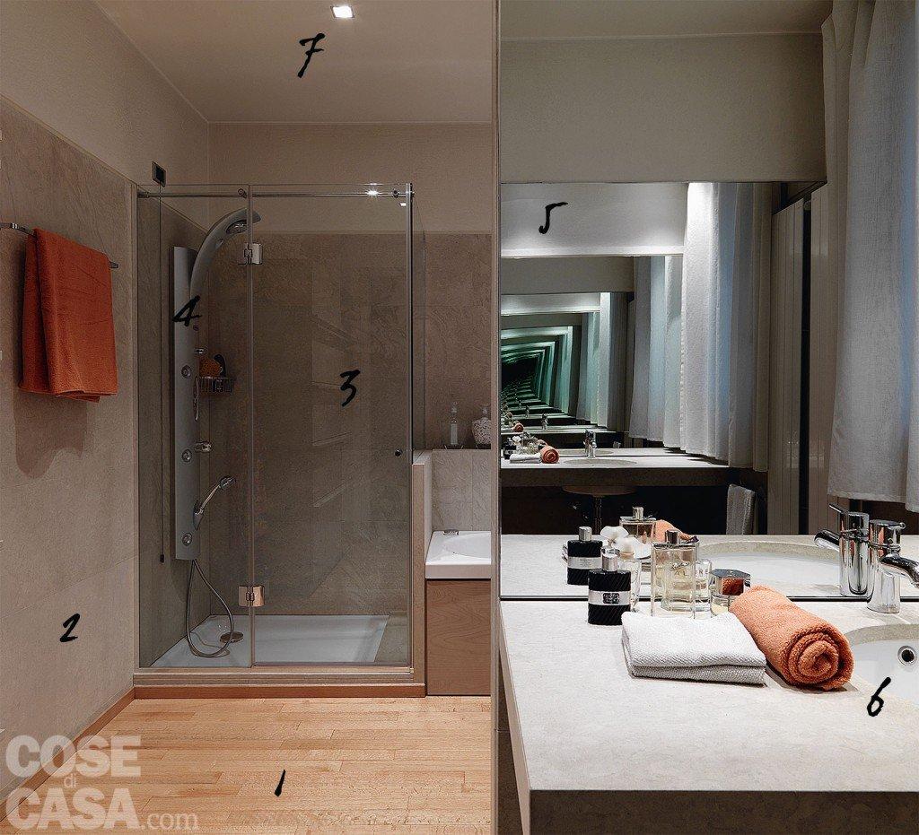 Bagno in stile minimal idee da copiare cose di casa - Bagno mansarda rivestimento ...