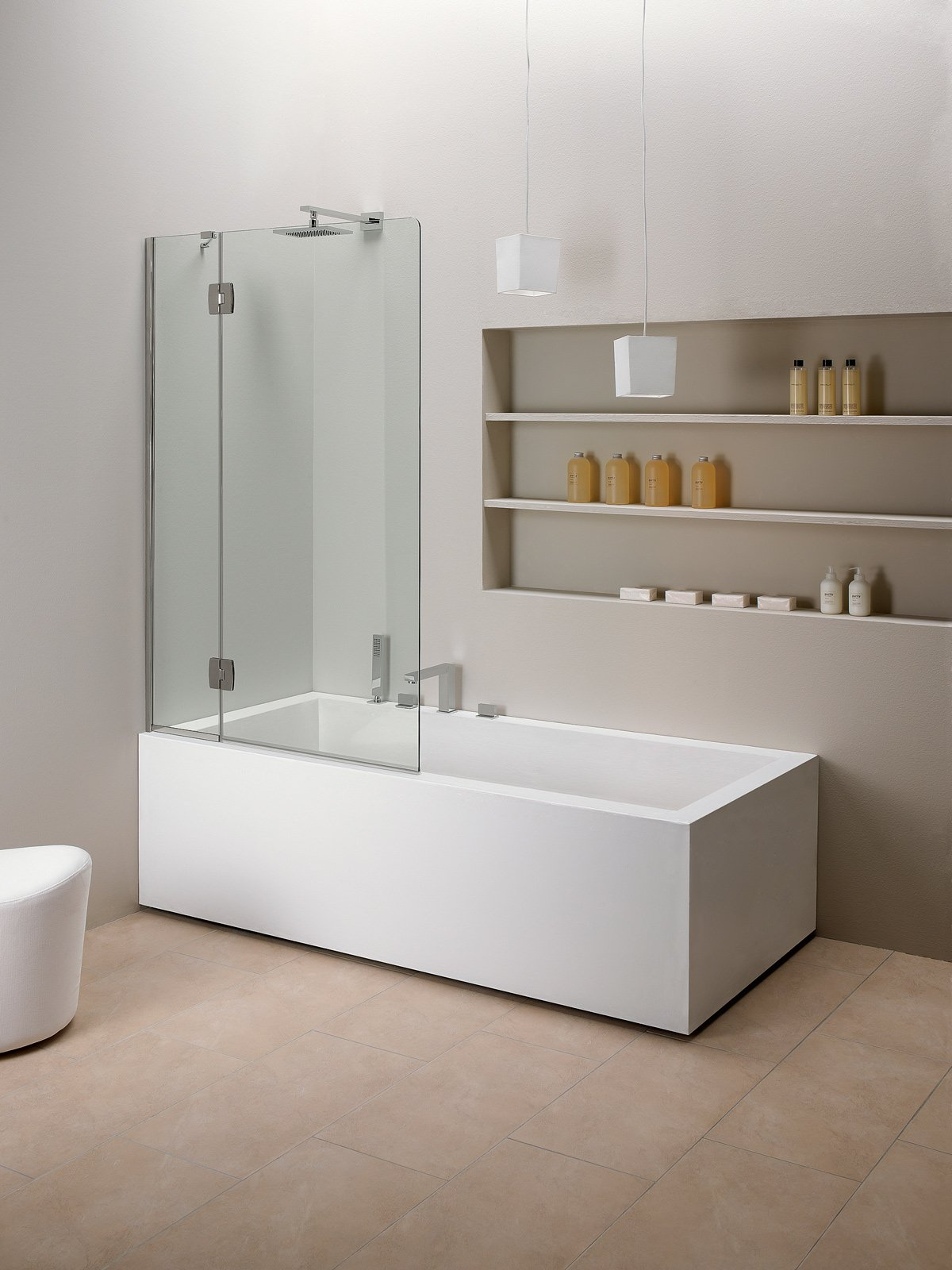 Vasca e doccia insieme cose di casa - Paraspruzzi per vasca da bagno ...