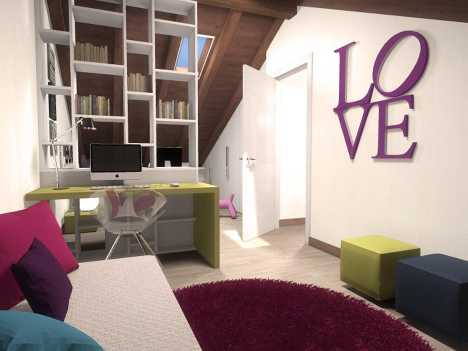 La mansarda da dividere in camera e studio cose di casa - Camera da letto sottotetto ...