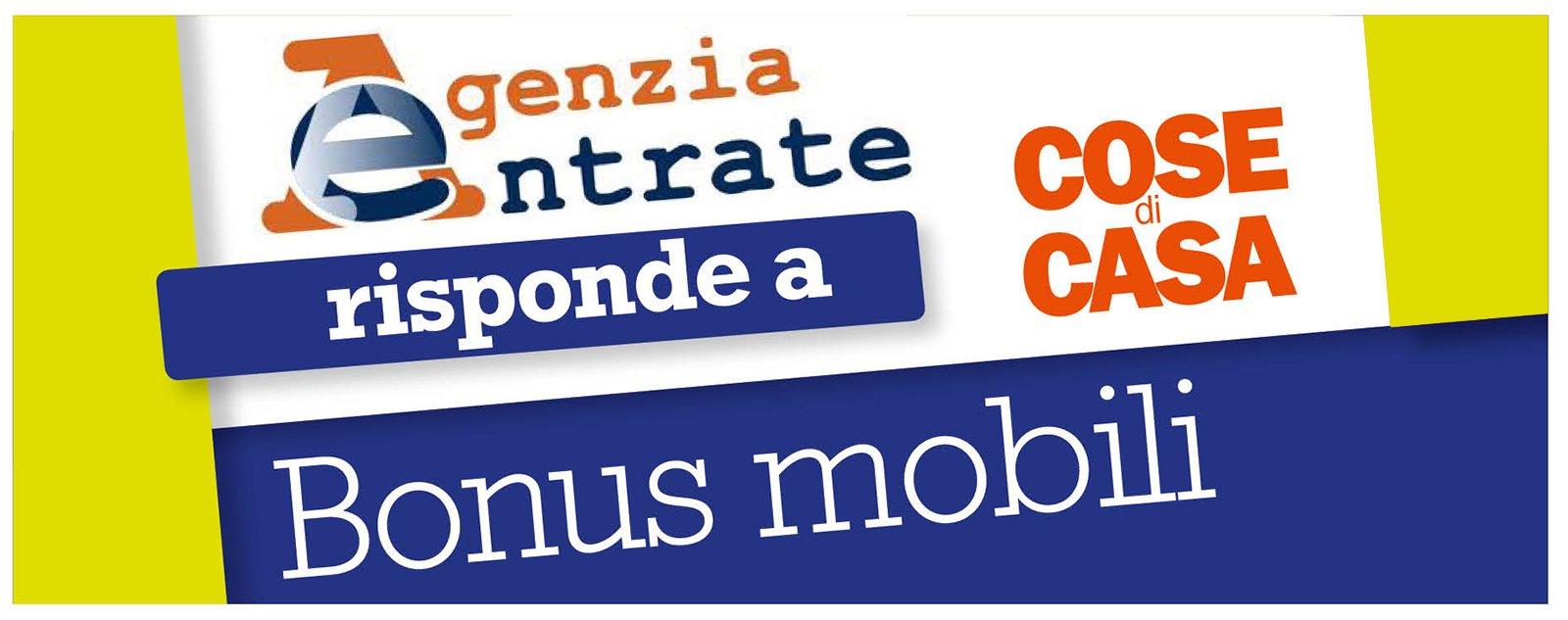 Bonus mobili 2013 l 39 agenzia delle entrate risponde cose for Bonus arredi agenzia entrate