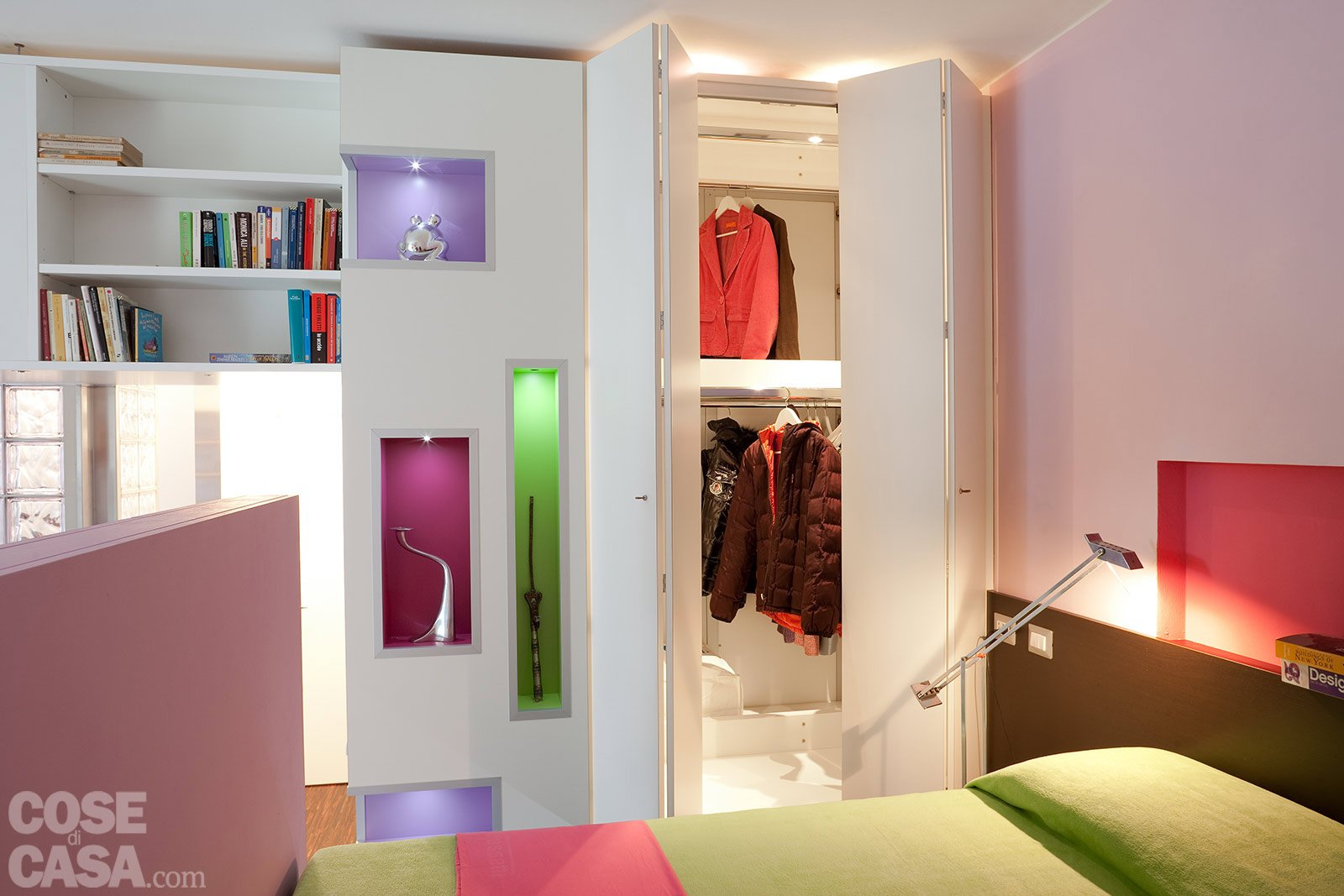 Una Casa Di 40 Mq: Monolocale Con Cucina Separata #3A2410 1600 1067 Come Arredare Una Stanza Con Cucina A Vista