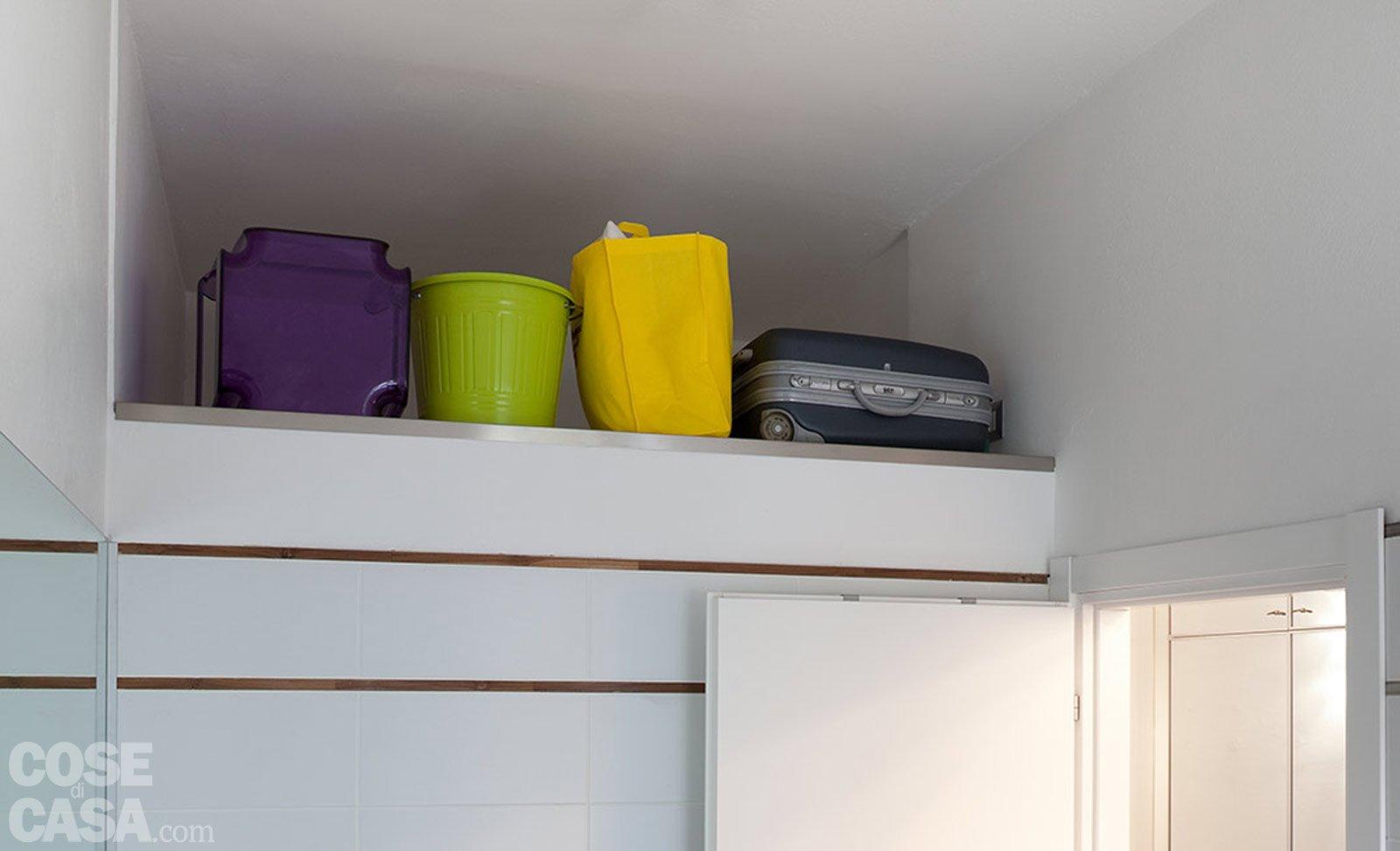 Una casa di 40 mq: monolocale con cucina separata