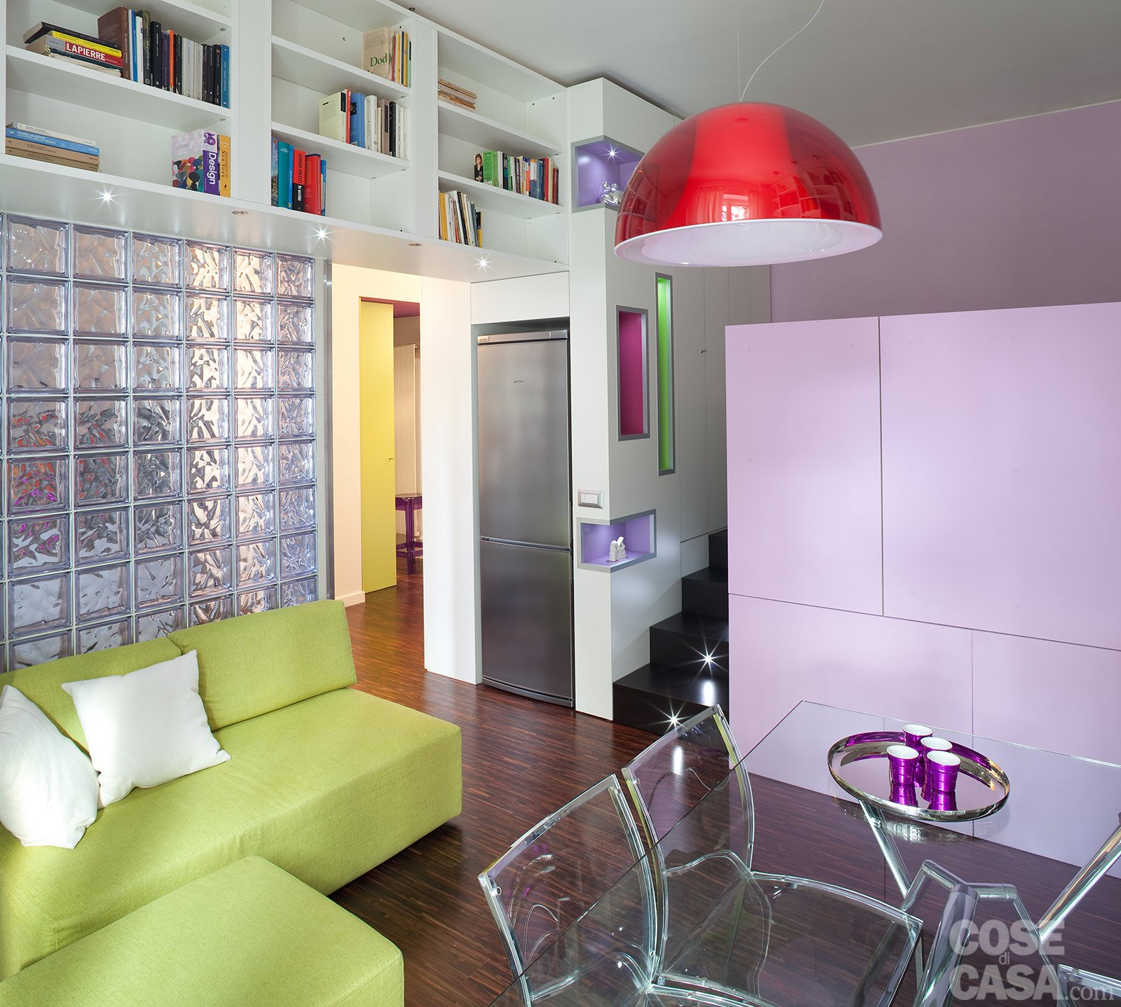 Una Casa Di 40 Mq: Monolocale Con Cucina Separata Cose Di Casa #898F3C 1600 1438 Come Arredare Cucina Soggiorno Di 20 Mq