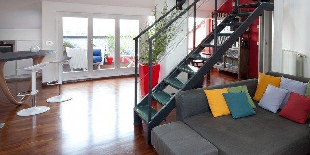 95 mq: una casa con nuovi ambienti in verticale