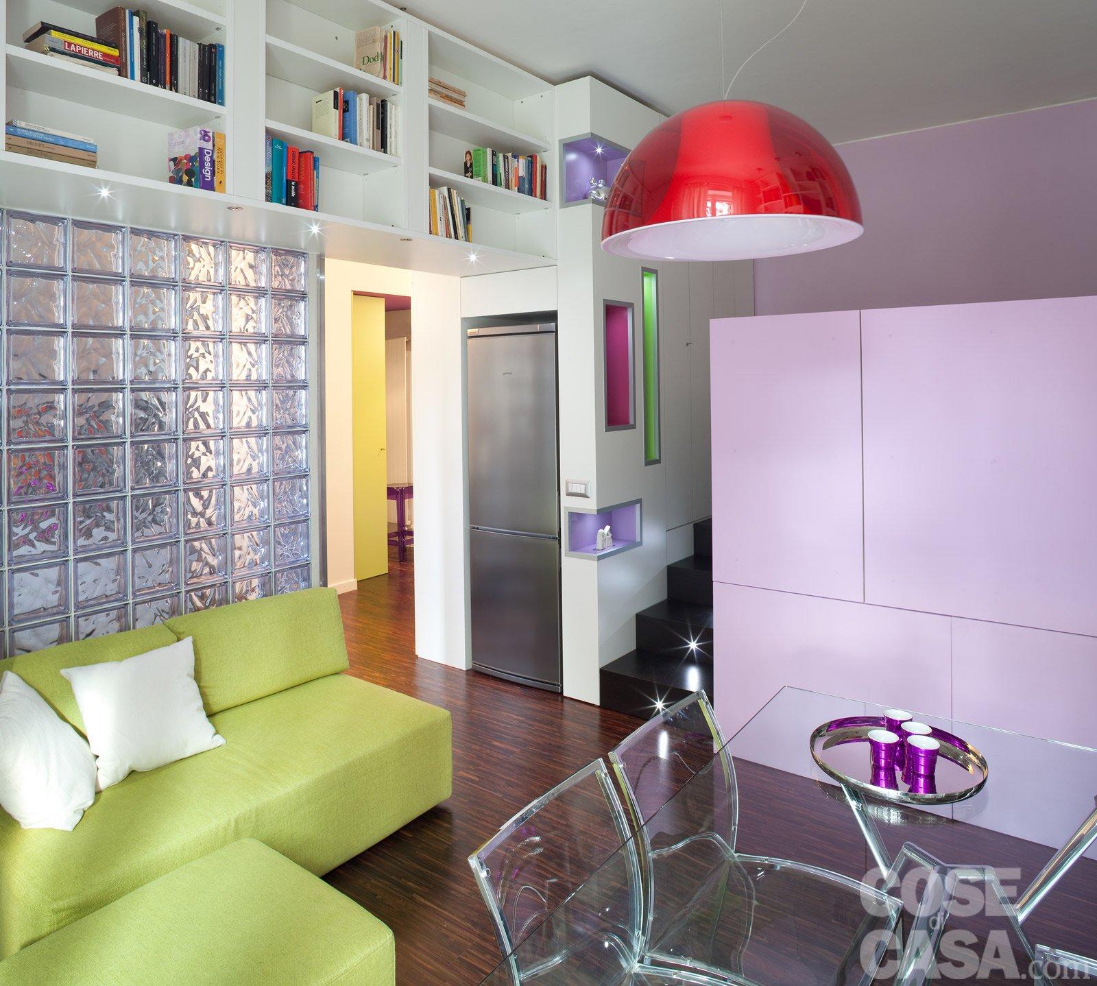 Una casa di 40 mq: monolocale con cucina separata - Cose di Casa