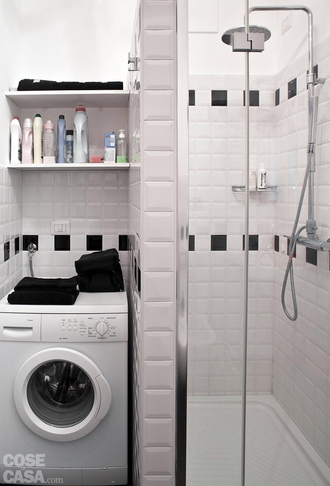 La casa per due un bilocale di classe cose di casa - Lavatrice in bagno soluzioni ...
