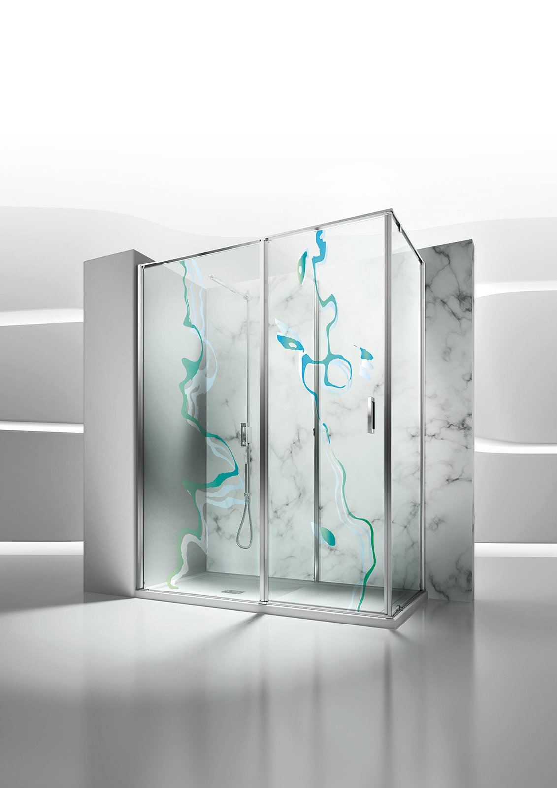 Gamba legno toscana - Box doccia vetrocemento ...