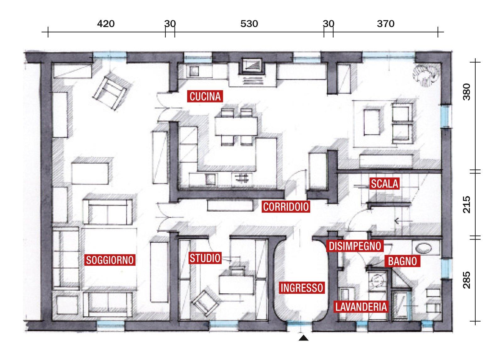 Cose di casa for A forma di casa con piano piano unico