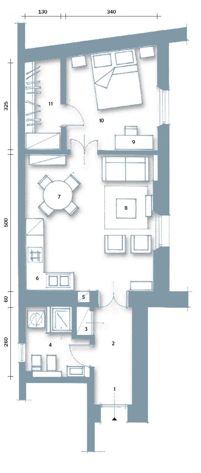La casa per due un bilocale di classe cose di casa for Casa 50 mq ikea