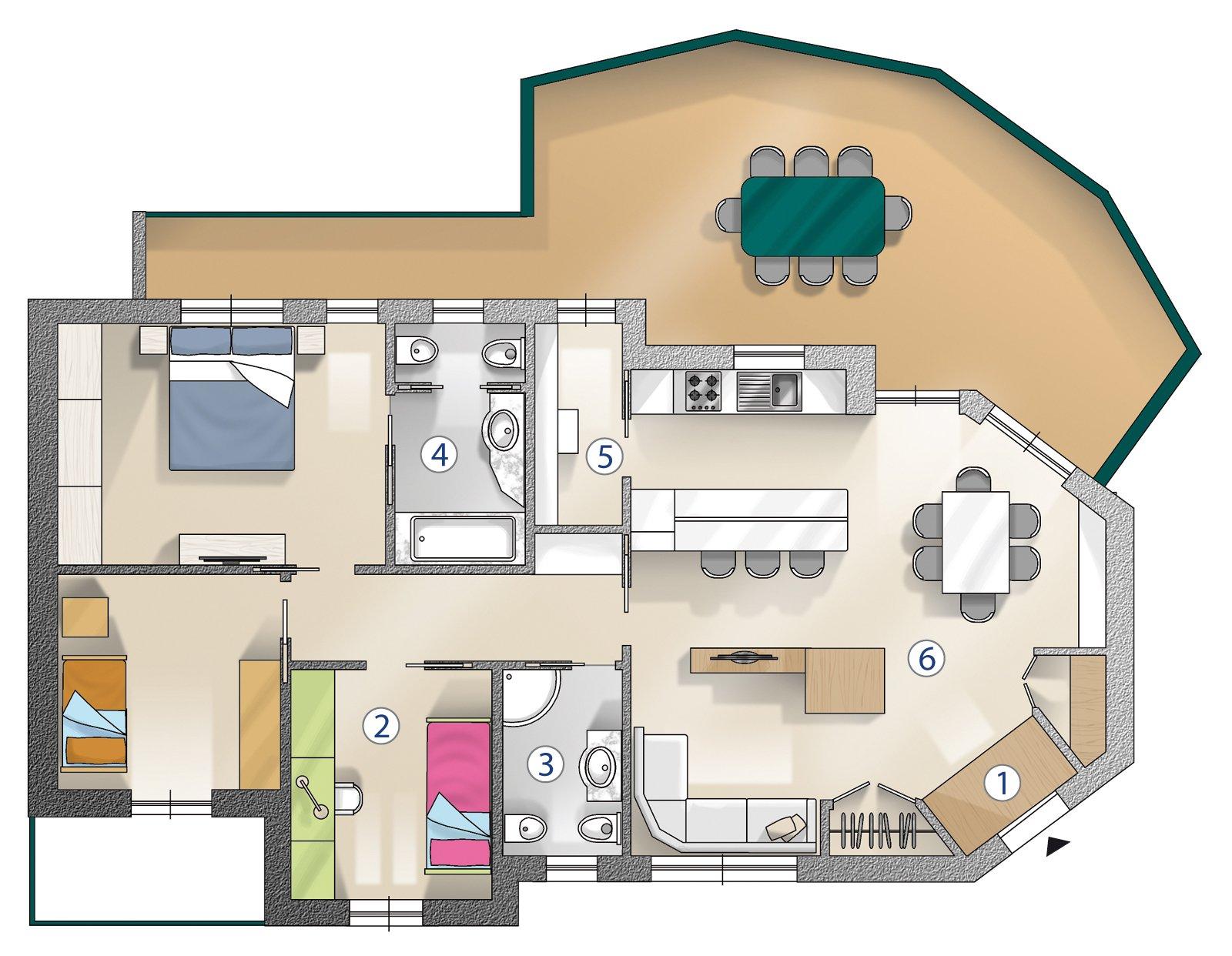 Ricavare la terza camera cose di casa for Piani di un appartamento con una camera da letto
