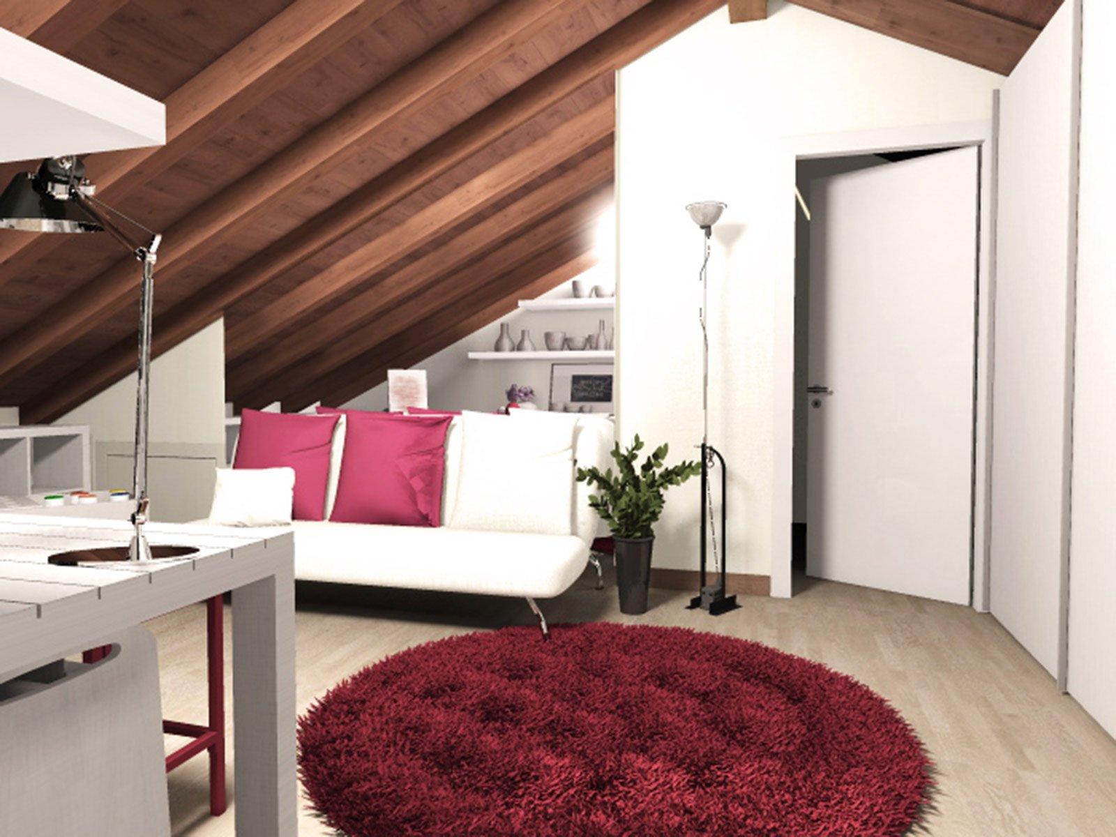 La mansarda da dividere in camera e studio cose di casa - Architetto interior designer ...