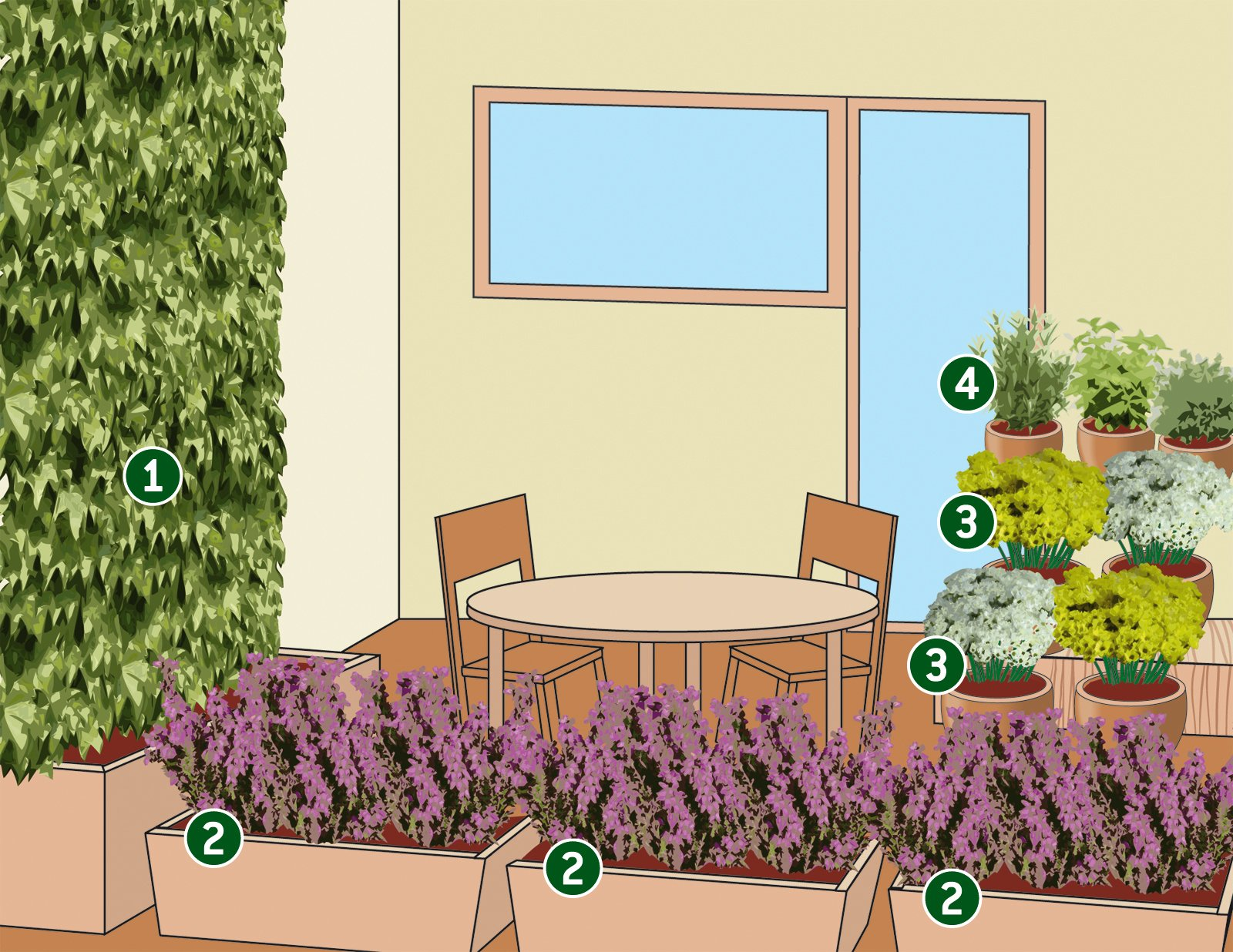 Progettare il terrazzo autunnale con fiori e piante for Fiori da terrazzo