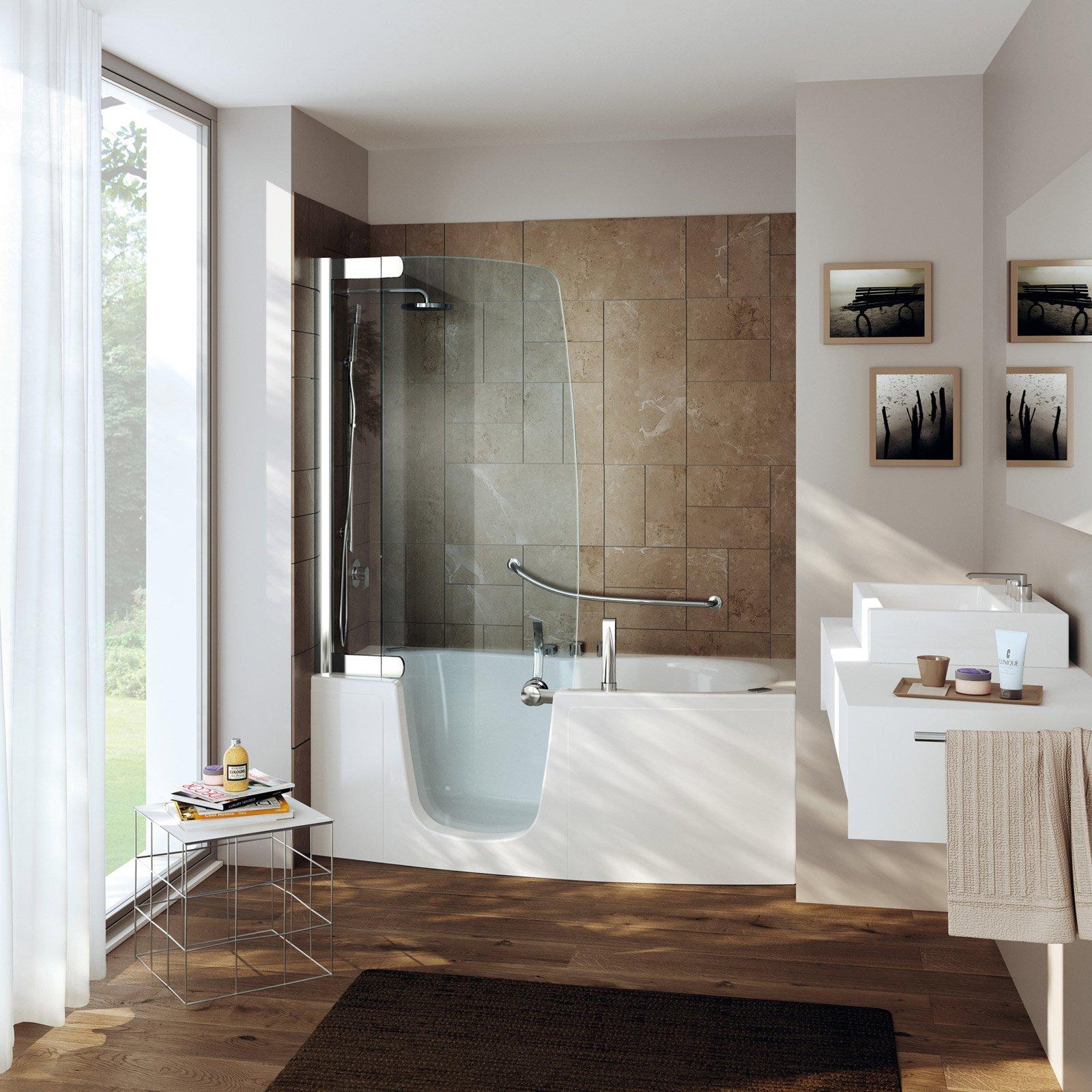 Vasca e doccia insieme cose di casa - Porte per bagni ...