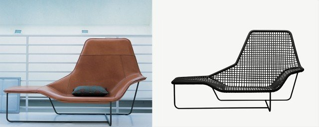 Ludovica e Roberto Palomba reinterpretano per Zanotta la chaise-longue Lama in una versione adatta sia ad interni sia ad esterni, realizzata in un vivace susseguirsi di linee tese in pvc e morbidi spigoli modellati nell'acciaio: abbandona l'imbottitura e il rivestimento esterno che aveva caratterizzato il precedente modello (da ricordare l'elegante versione in cuoio), per conservare l'inconfondibile disegno del perimetro. Misura L 171 x P 86 x H 32 cm. Prezzo 3.910 euro. www.zanotta.it