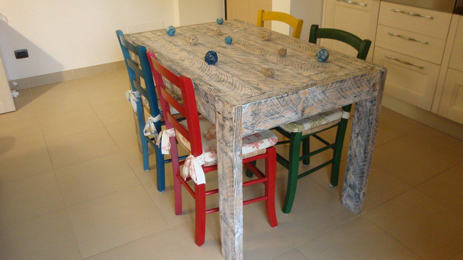 Un tavolo fatto di tavole cose di casa - Tornio per legno fatto in casa ...