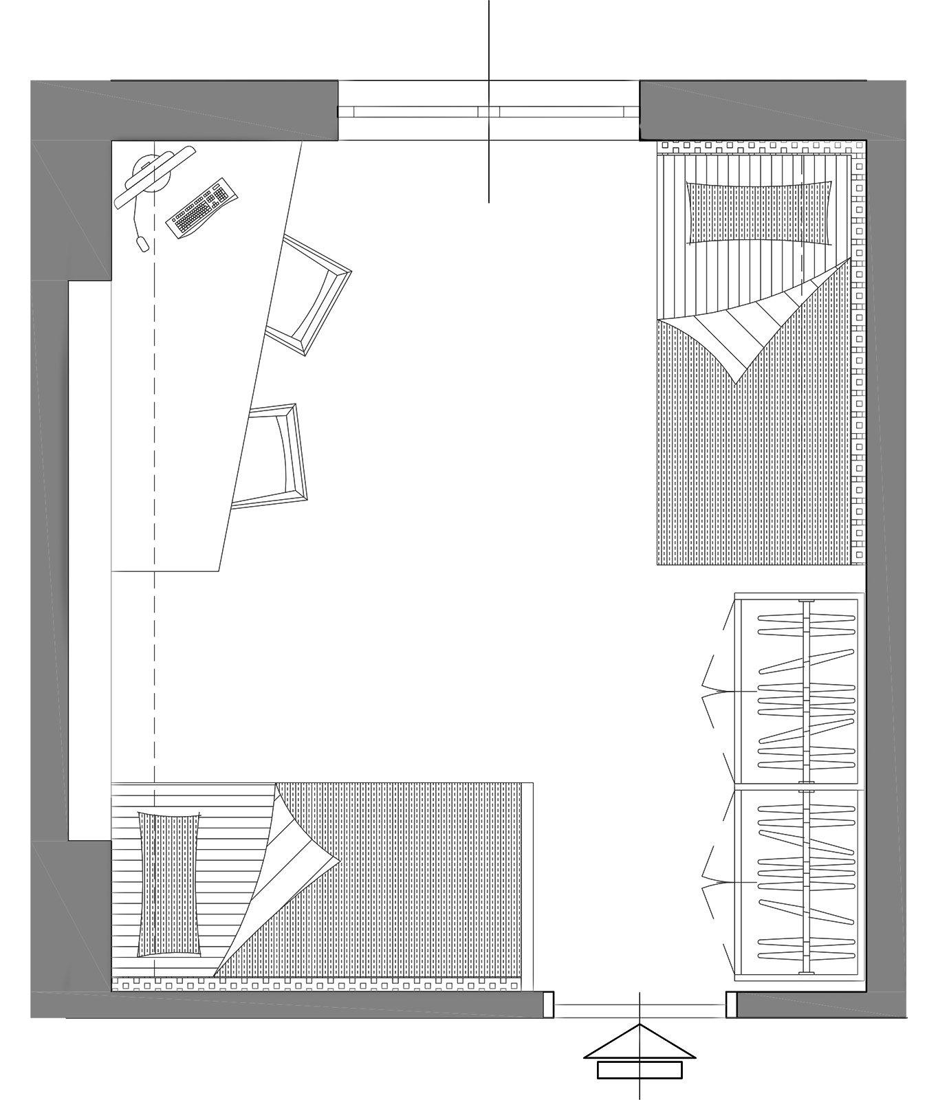 Una camera da attrezzare per due cose di casa - Progetto camera ...