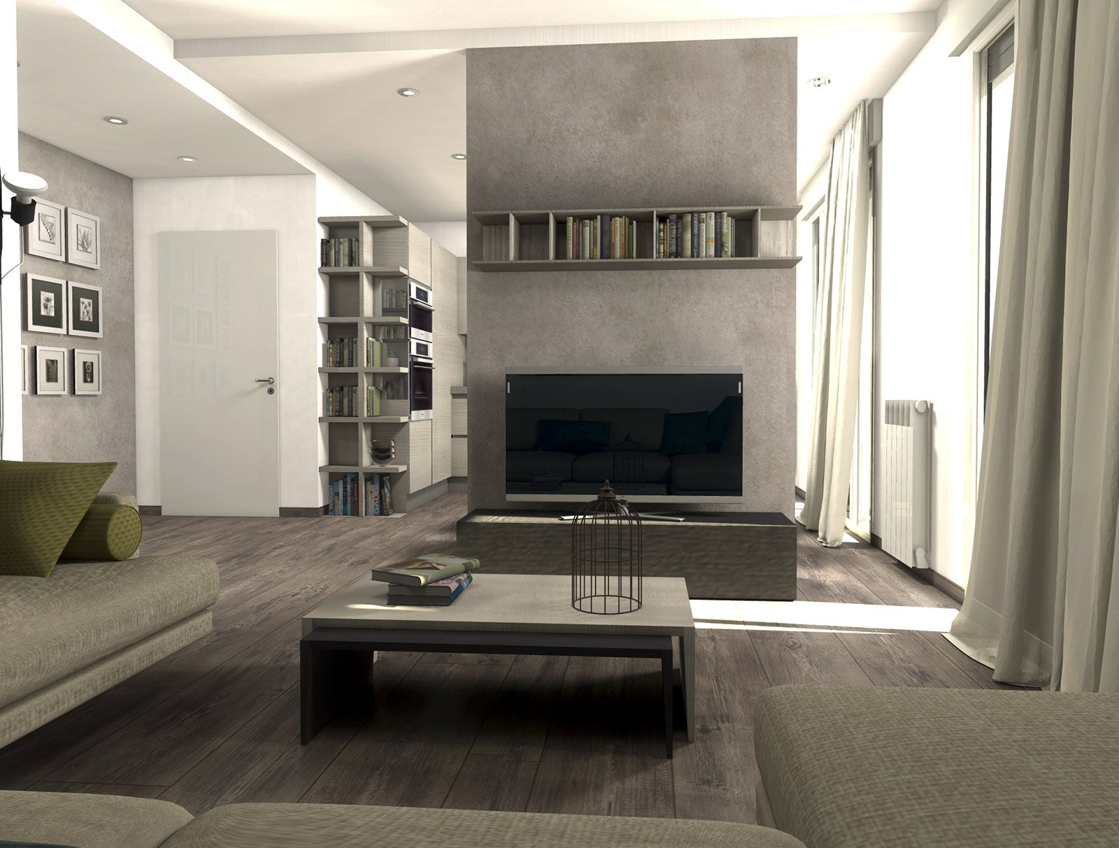 Da casa tradizionale ad abitazione moderna e attuale for Pareti tv moderne