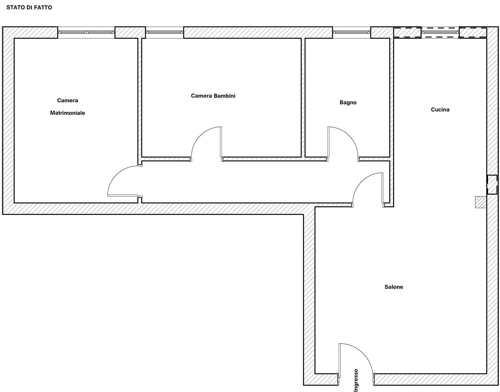 Una penisola per dividere la zona giorno dalla cucina for Grandi case a un piano