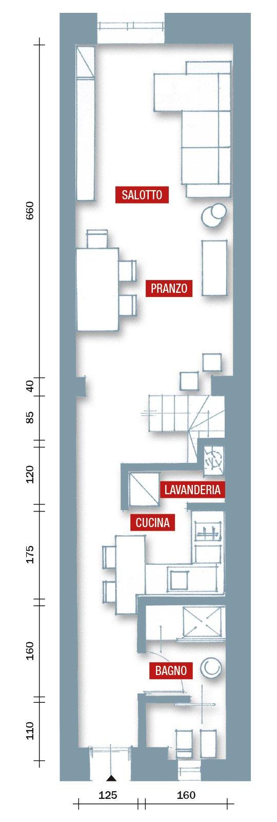 Una casa stretta e lunga che ottimizza lo spazio cose di for Piani di camera di lavanderia