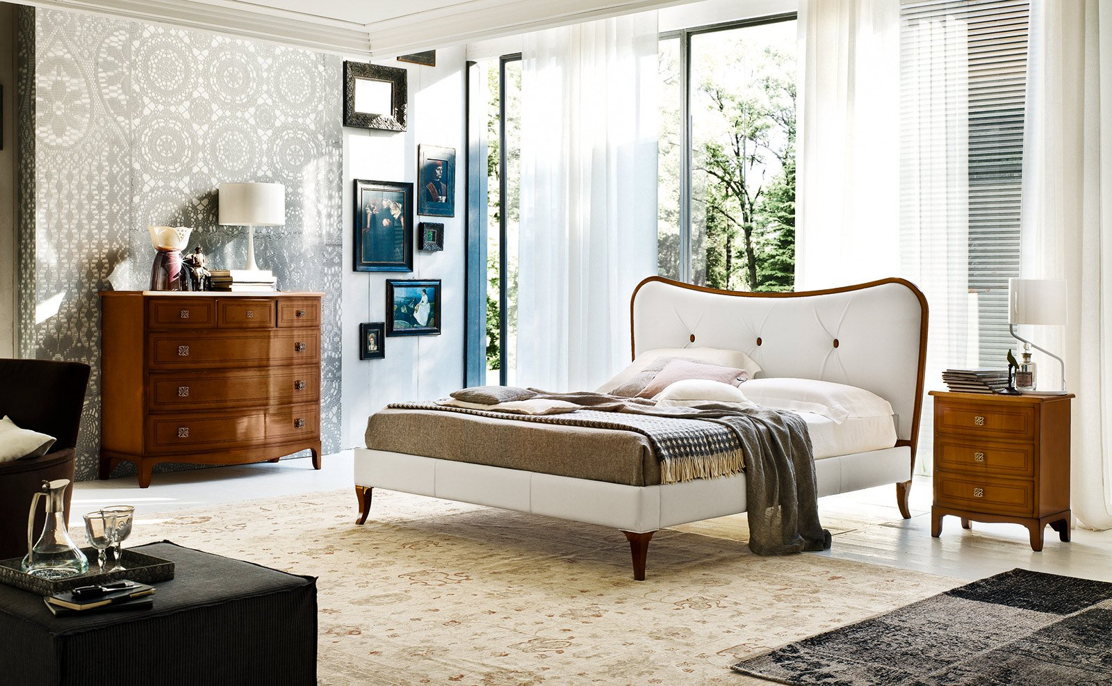 Letti imbottiti capitonn in versione classica cose di casa - Le fablier prezzi camere da letto ...