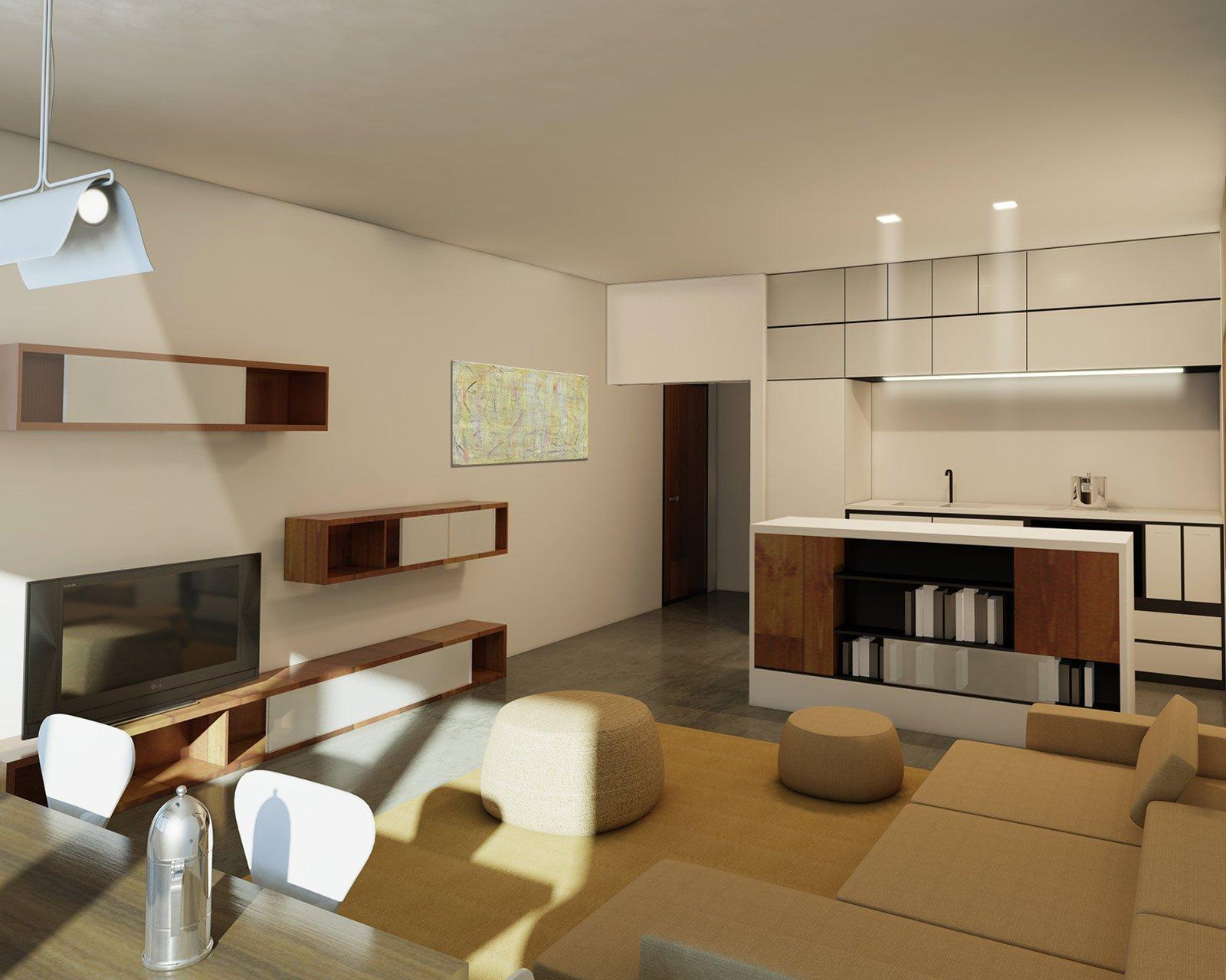 Arredare la zona giorno: un progetto con pianta e prospettiva in 3D - Cose di Casa