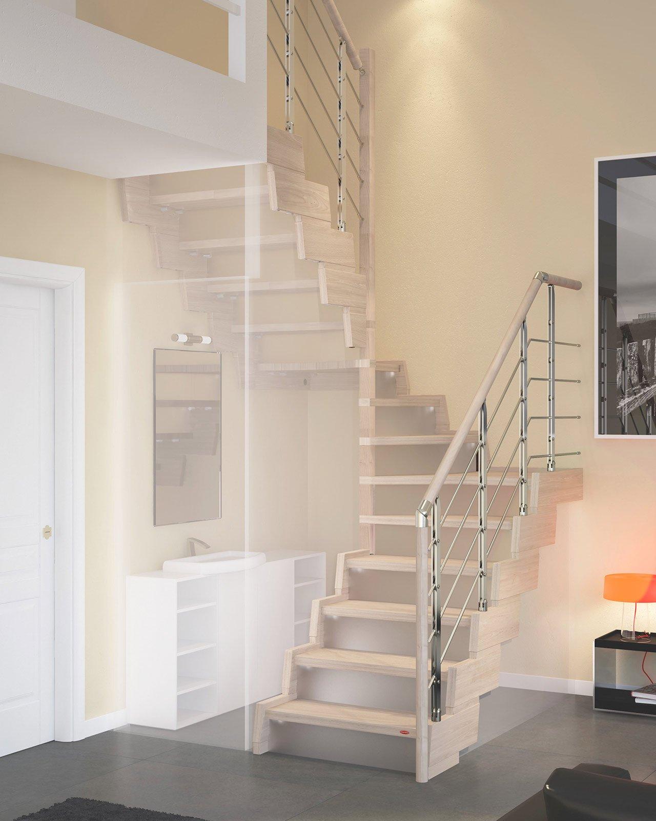 Ristrutturazione dalla porta alla scala soluzioni - Scale classiche per interni ...