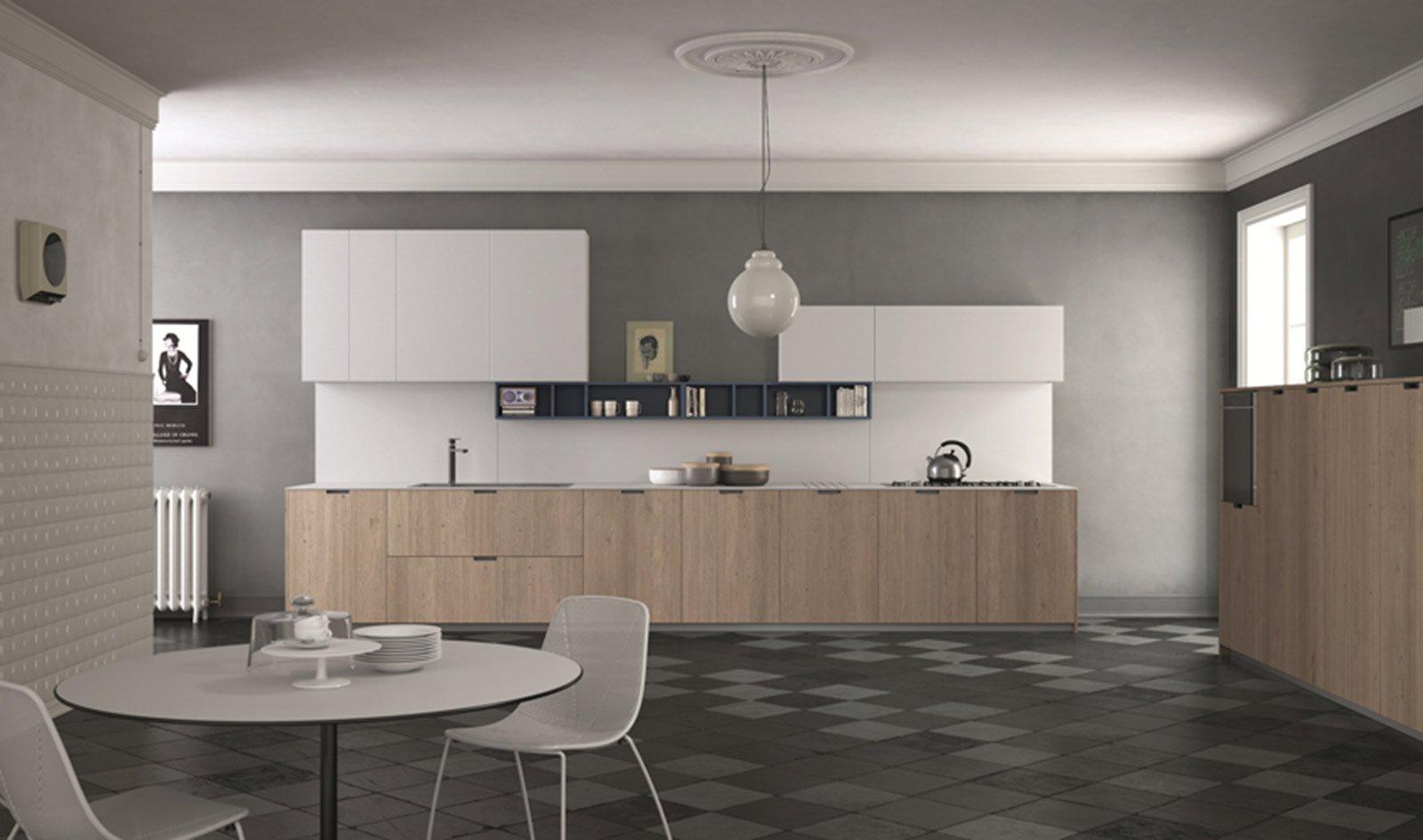 Juta E Laminato Bianco Bordo Laser La Cucina Style Di Doimo Cucine  #5C5147 1600 945 Foto Di Cucine Arte Povera