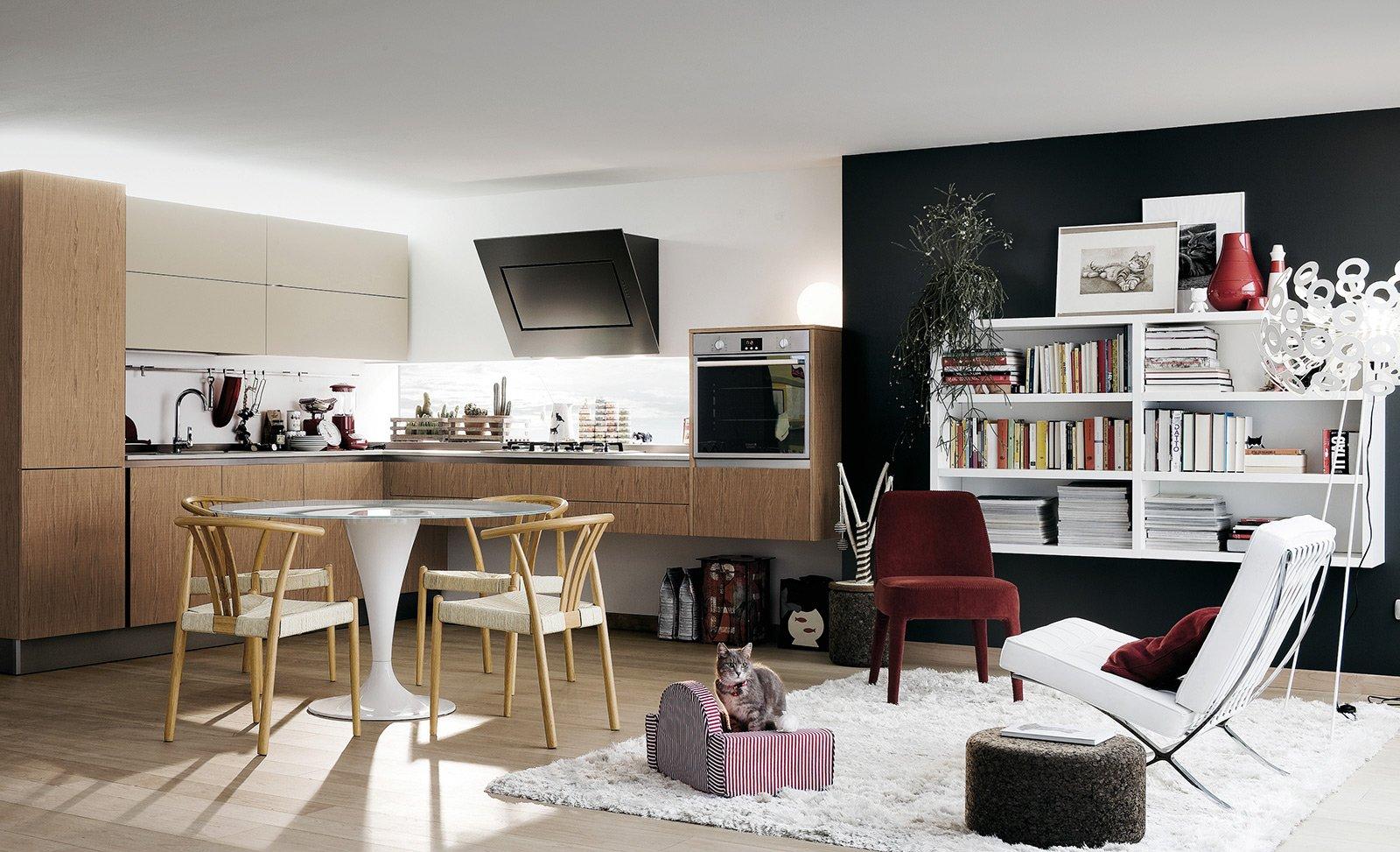 Nella Cucina Extra.go Di Veneta Cucine Basi A Terra E Moduli Sospesi  #664838 1600 973 Open Space Con Sala Da Pranzo