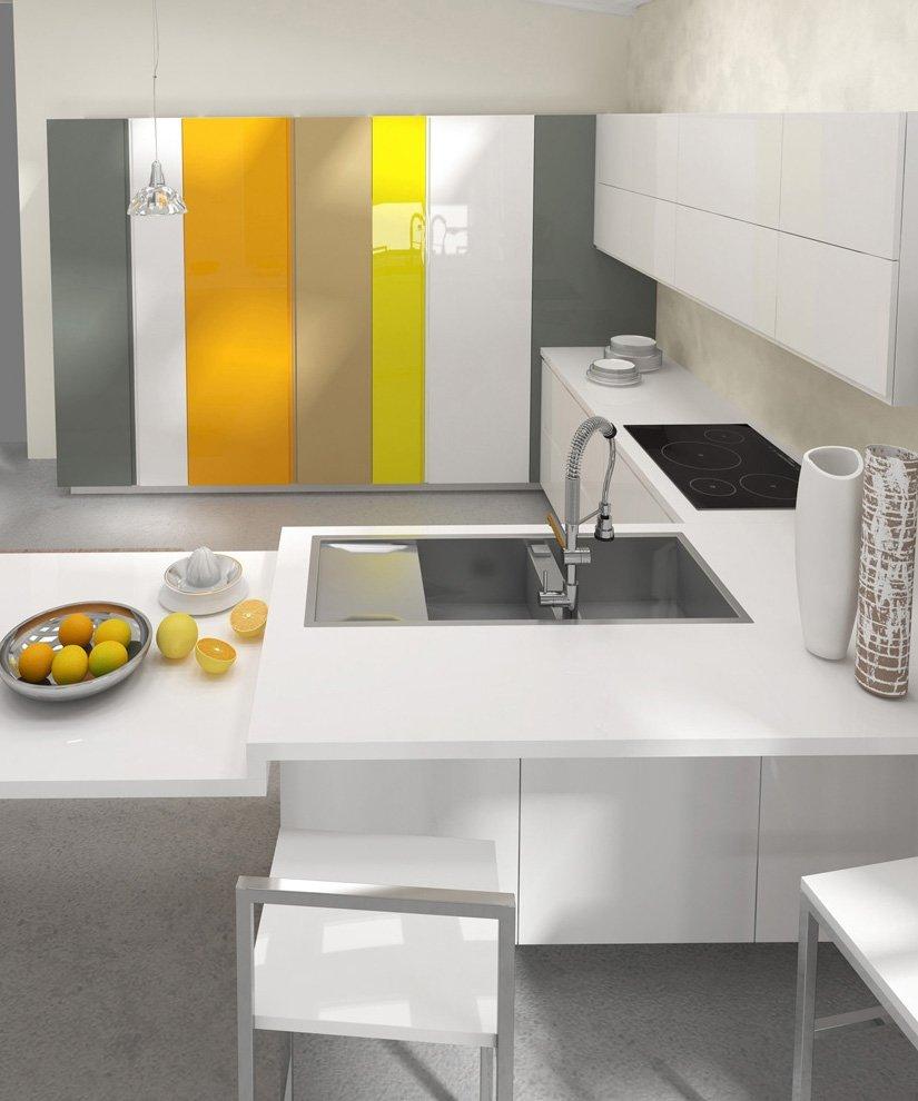 Cucine focus sui piani cose di casa - Profondita pensili cucina ...