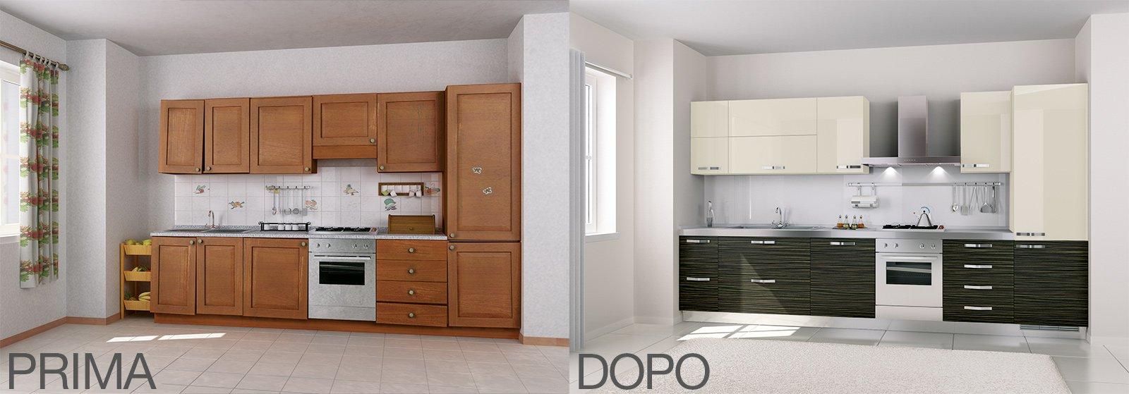 LA CUCINA PRIMA E DOPO La cucina è stata rinnovata con nuove ante di ...