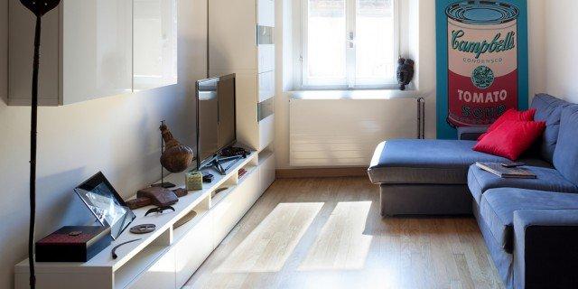 Arredamento casa da 50 a 100 mq idee e progetto for Moderni piani casa stretta