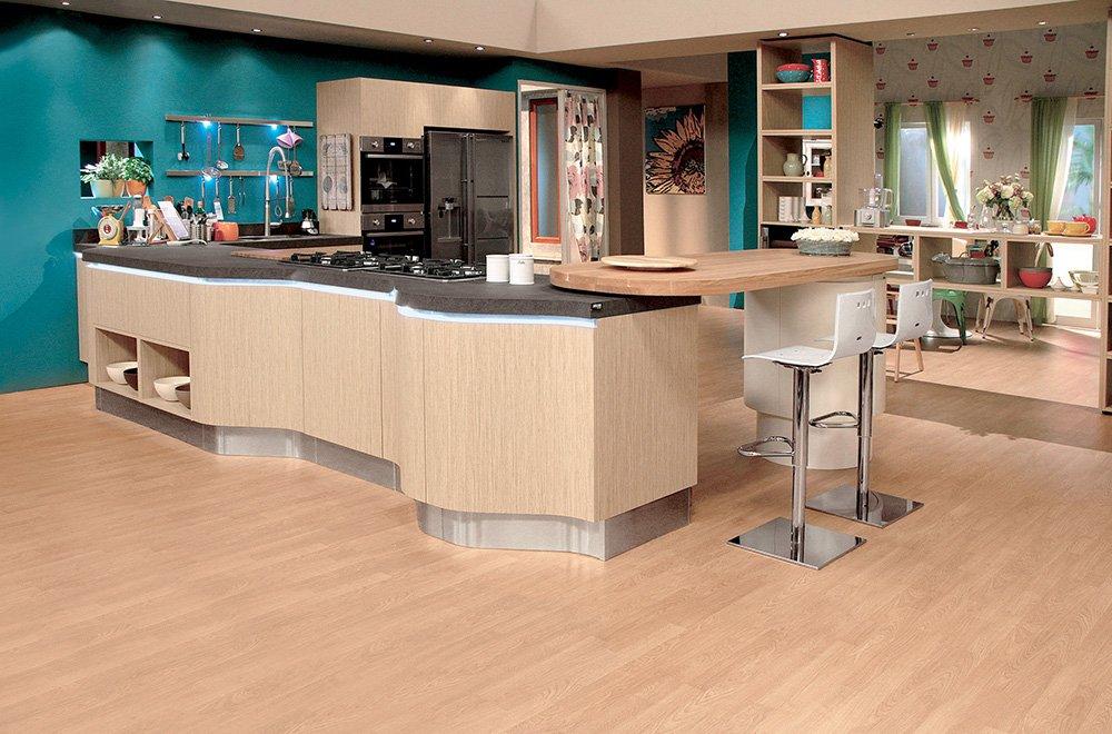 La cucina Penelope di Aran è formata da un blocco a parete e una ...