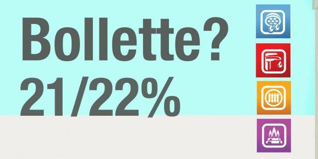 Aumento dell'Iva al 22% su acqua, luce e gas