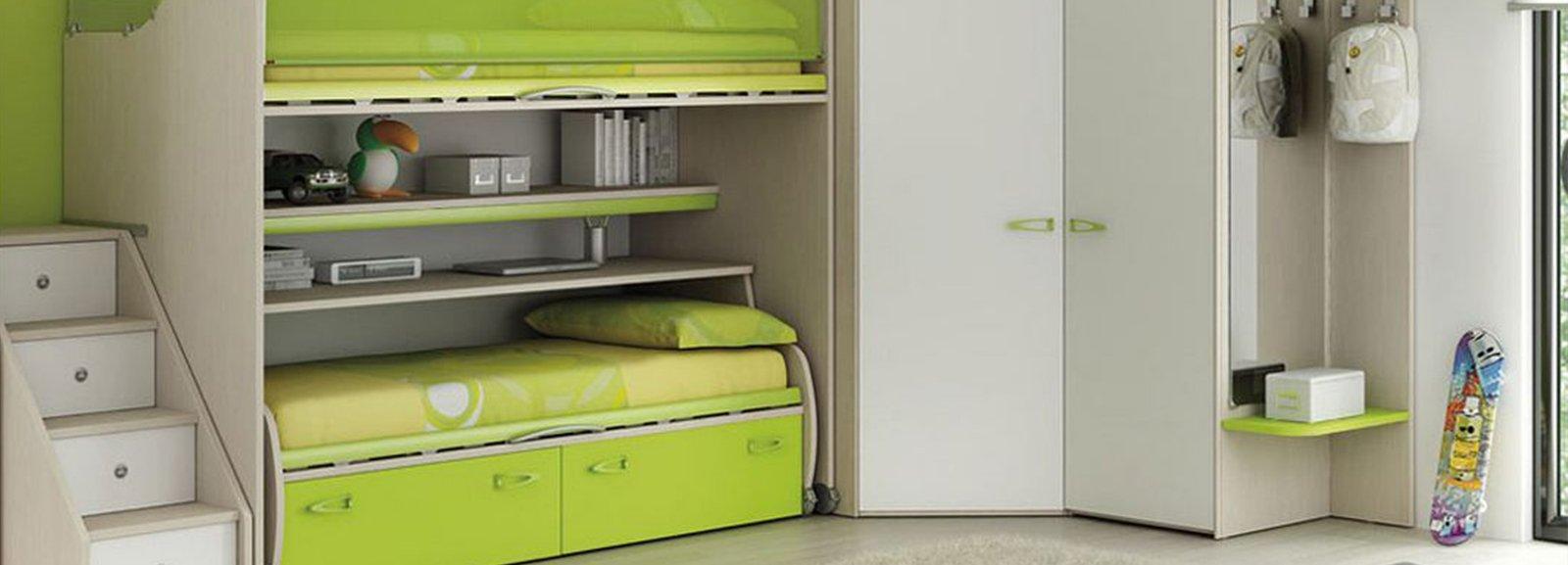Camerette salvaspazio cose di casa for Arredamento camerette piccoli spazi