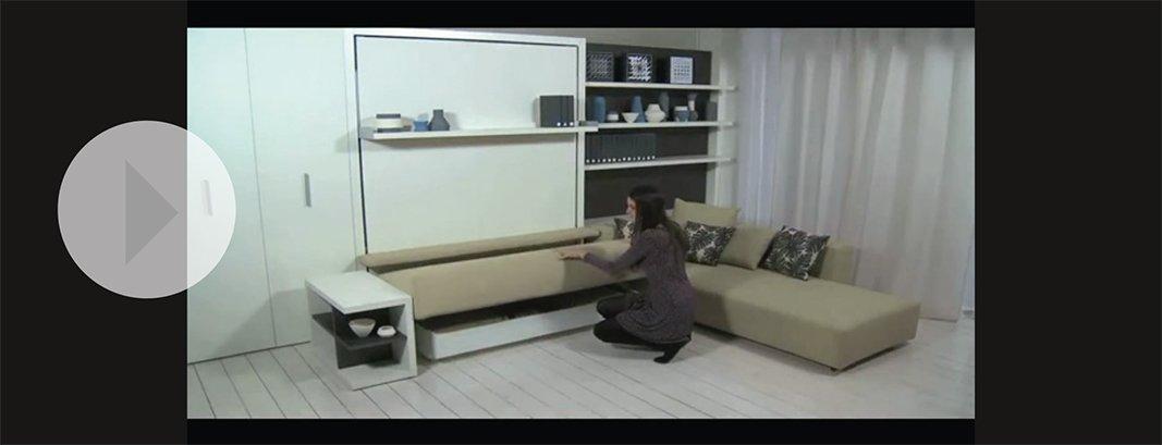 soggiorno trasformabile in camera. un video con tante soluzioni ... - Mobili Trasformabili Video